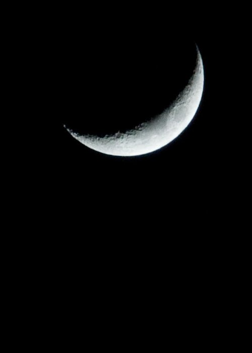 Moon Greeting Card featuring the photograph Solo by Heide Rainey