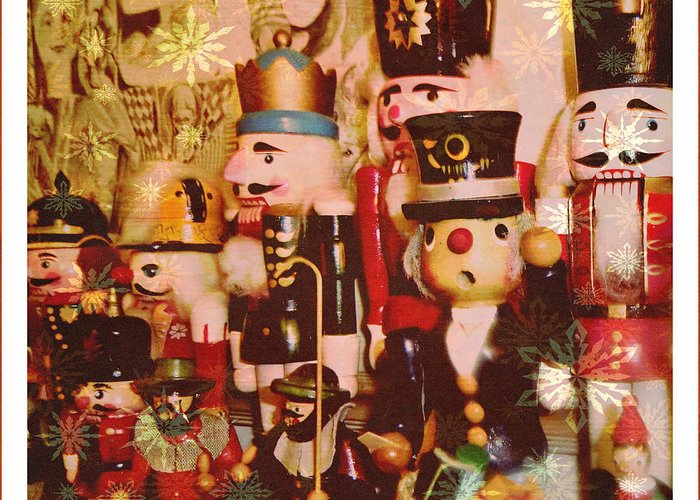 Nutcrackers Greeting Card featuring the photograph Some Flakey Nutcrackers by Mindy Newman