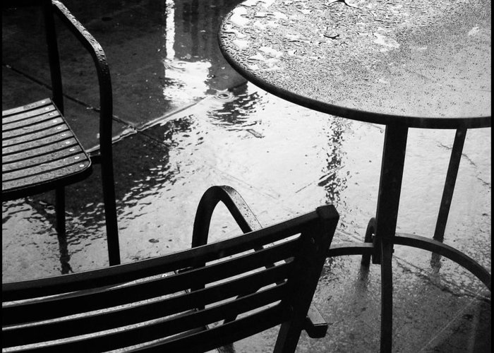 Rain Greeting Card featuring the photograph Sometimes It Rains by Anne McDonald