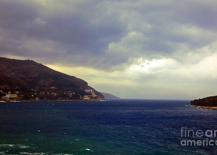 Seascape Greeting Card featuring the photograph Somewhere Beyond The Sea 1 by Madeline Ellis