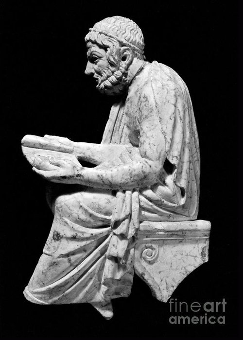 Classical Greeting Card featuring the photograph Sophocles (c496-406 B.c.) by Granger