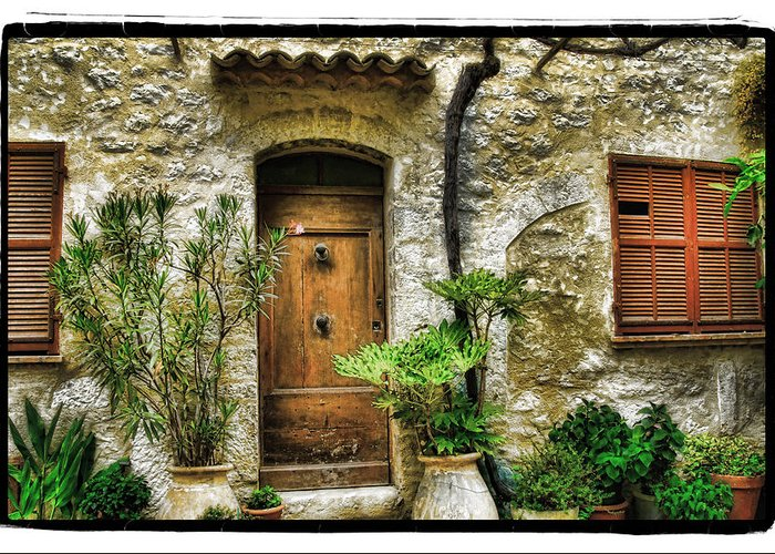Art Greeting Card featuring the pyrography South Of France 1 by Mauro Celotti