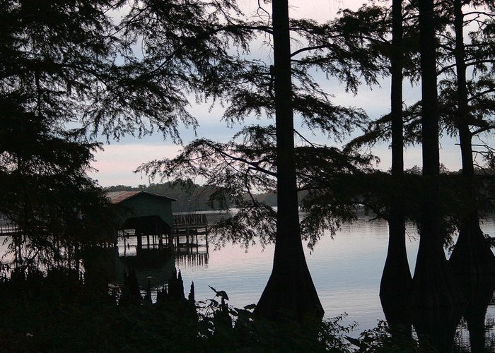 Pm Greeting Card featuring the photograph Southern Lake by Nina Fosdick