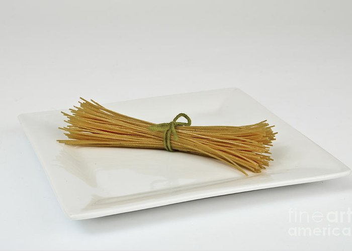 Celiac's Disease Greeting Card featuring the photograph Soybean Spaghetti by Photo Researchers