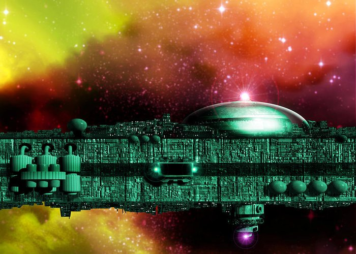 Interstellar Ark Greeting Card featuring the photograph Space Ark by Victor Habbick Visions