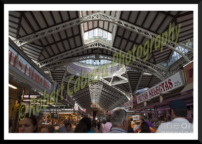Architecture Greeting Card featuring the pyrography Spanish Market by Robert Cabrera