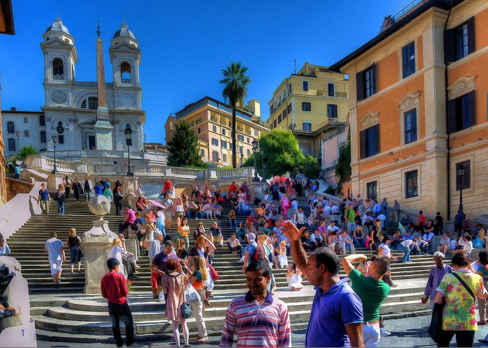 Italy Greeting Card featuring the photograph Spanish Steps by Scott Massey