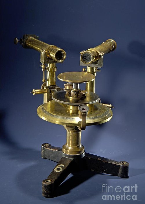 Science Greeting Card featuring the photograph Spectroscope, Circa 1920 by Science Source