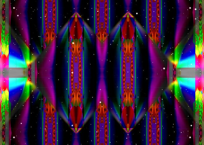 Ultra Fractal Greeting Card featuring the digital art Specular Mystery by Mario Carini