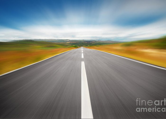 Asphalt Greeting Card featuring the photograph Speedyway by Carlos Caetano
