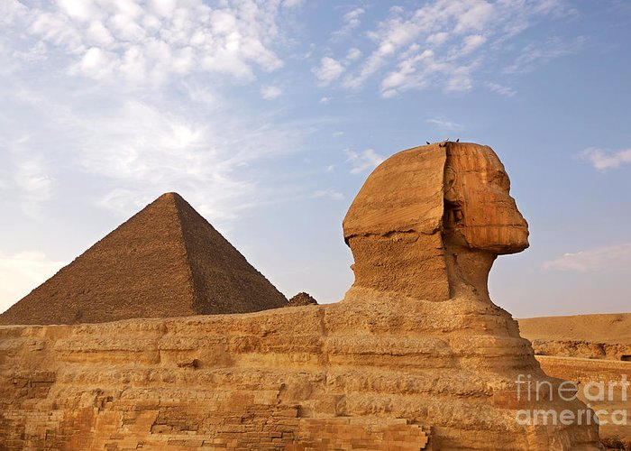 Africa Greeting Card featuring the photograph Sphinx Of Giza by Jane Rix
