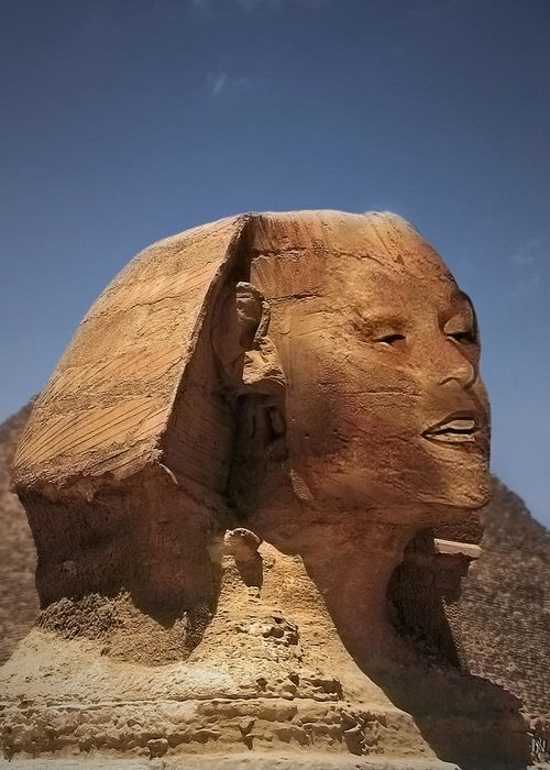 Petra Greeting Card featuring the photograph Sphinx Petra by Nafets Nuarb
