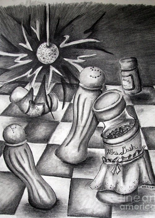 Greeting Card featuring the drawing Spice Of Life by Tracy Glantz