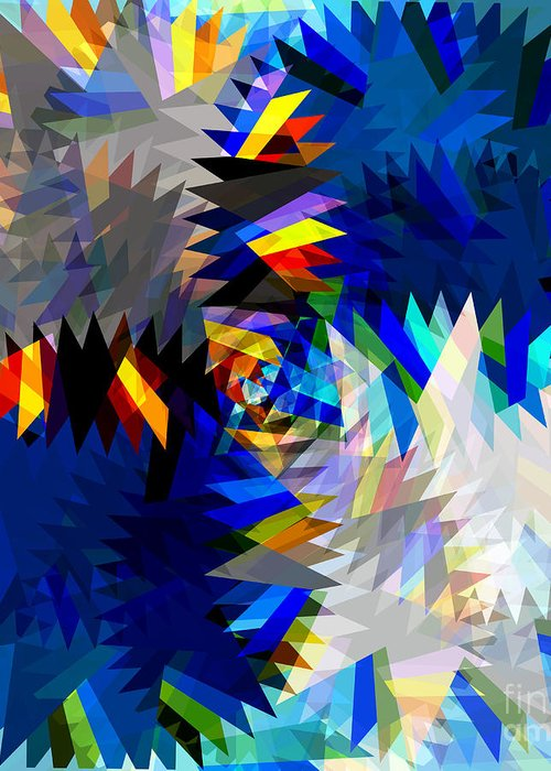 Art Greeting Card featuring the digital art Spinning Saw by Atiketta Sangasaeng