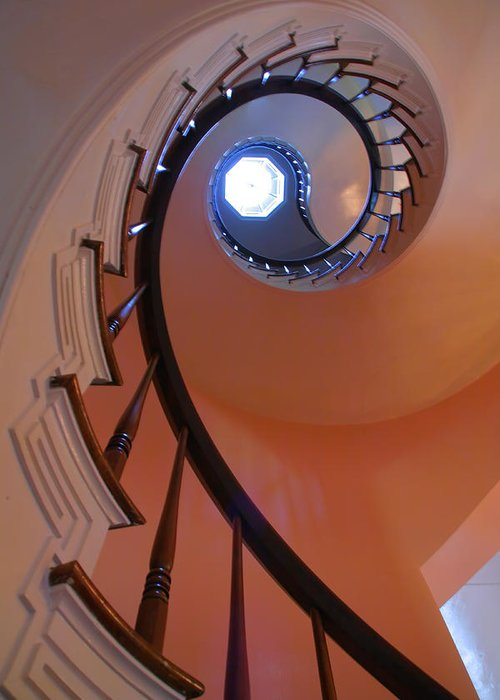 Stairs Greeting Card featuring the photograph Spiral Stairway by Steven Ainsworth