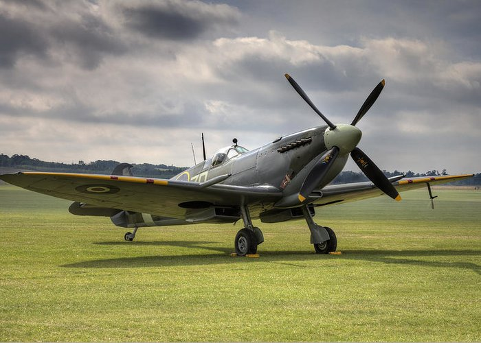 Supermarine Greeting Card featuring the photograph Spitfire Ready To Go by Ian Merton