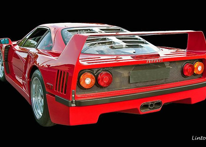Ferrari F40 Greeting Card featuring the photograph Spoiler 2 by Larry Linton