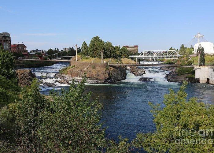 Spokane Greeting Card featuring the photograph Spokane Falls Hdr by Carol Groenen