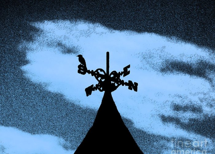 Wind Vane Greeting Card featuring the photograph Spooky Silhouette by Al Powell Photography USA
