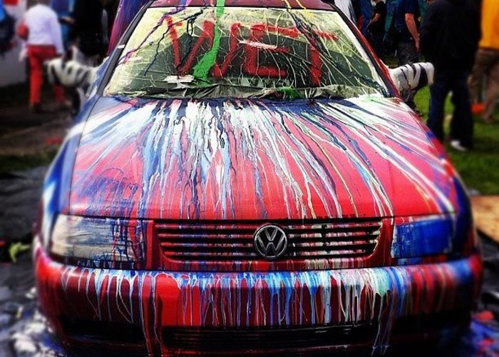 Car Paint Colors >> Spray Colour Cars Paint Graffiti Greeting Card