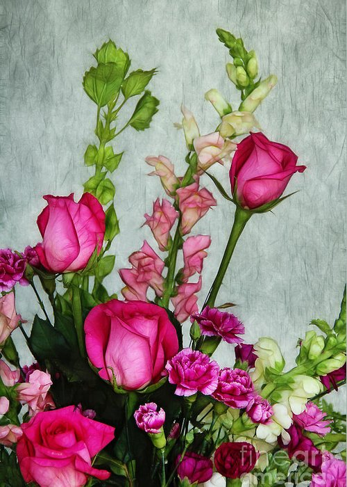 Roses Greeting Card featuring the photograph Spray Of Flowers by Judi Bagwell