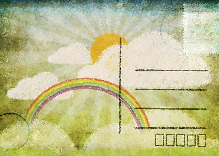 Address Greeting Card featuring the photograph Spring And Summer Postcard by Setsiri Silapasuwanchai