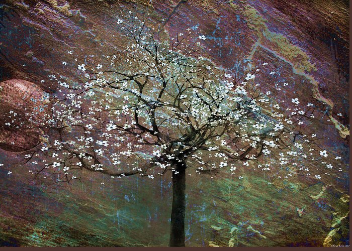 Tree Greeting Card featuring the painting Spring Dreaming by Gray Artus