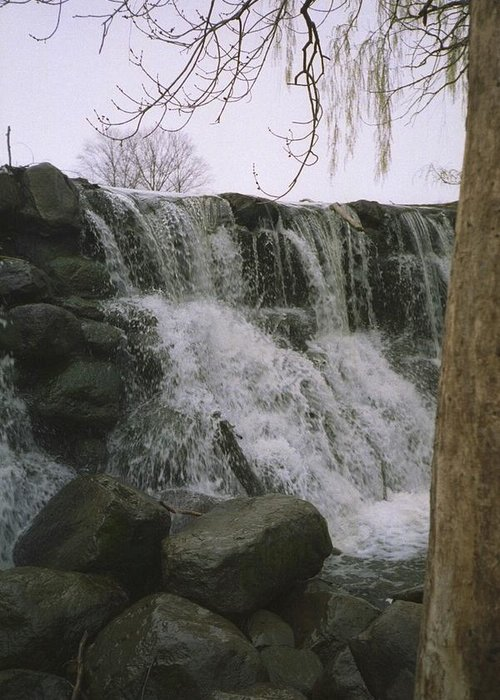 Landscape Greeting Card featuring the photograph Spring Falls by Annella Grayce