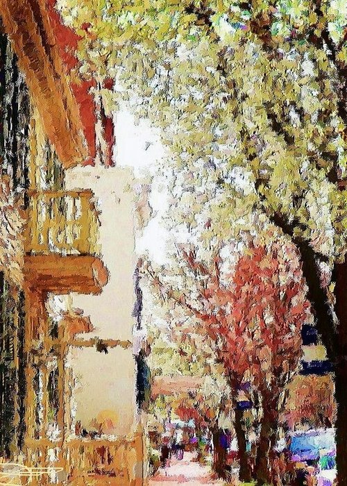 Landscape Art Greeting Card featuring the photograph Spring In The Burg by Diana Chason