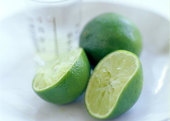 Food Greeting Card featuring the photograph Squeezed Lime by David Munns