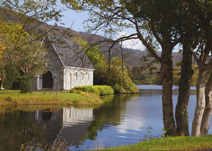 County Cork Greeting Card featuring the photograph St. Finbarres Oratory On Shore by Ken Welsh