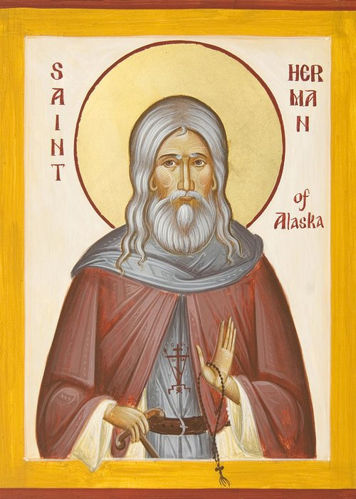 St Herman Of Alaska Greeting Cards