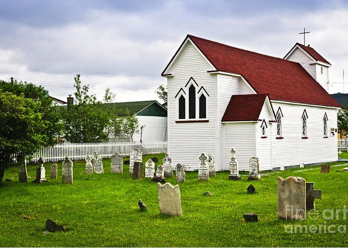 Placentia Greeting Card featuring the photograph St. Luke's Church In Placentia Newfoundland by Elena Elisseeva