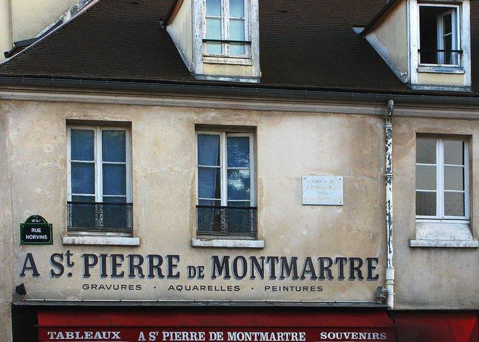 Montmartre Greeting Card featuring the photograph St Pierre De Montmartre Paris Scene by Greg Matchick