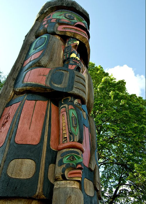 Totem Greeting Card featuring the photograph Staff In Hand by Travis Crockart