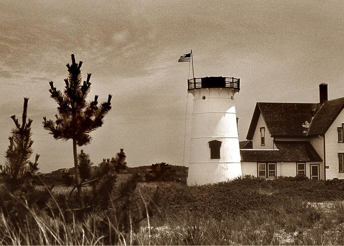 Ma Greeting Card featuring the photograph Stage Harbor Lighthouse by Skip Willits