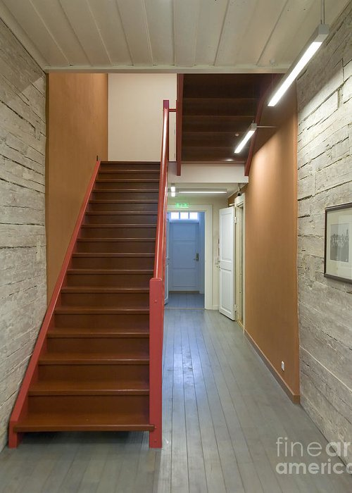 Architecture Greeting Card featuring the photograph Staircase In Old Building by Jaak Nilson