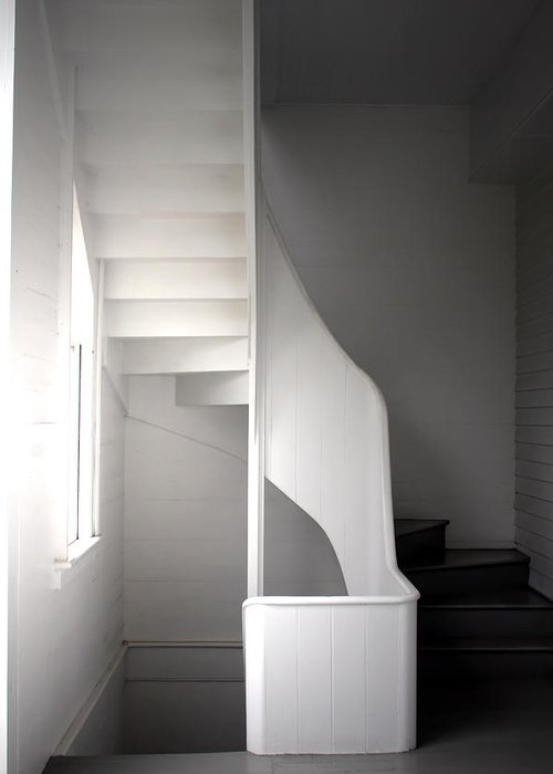 B/w Greeting Card featuring the photograph Stairs by Eric Gordon
