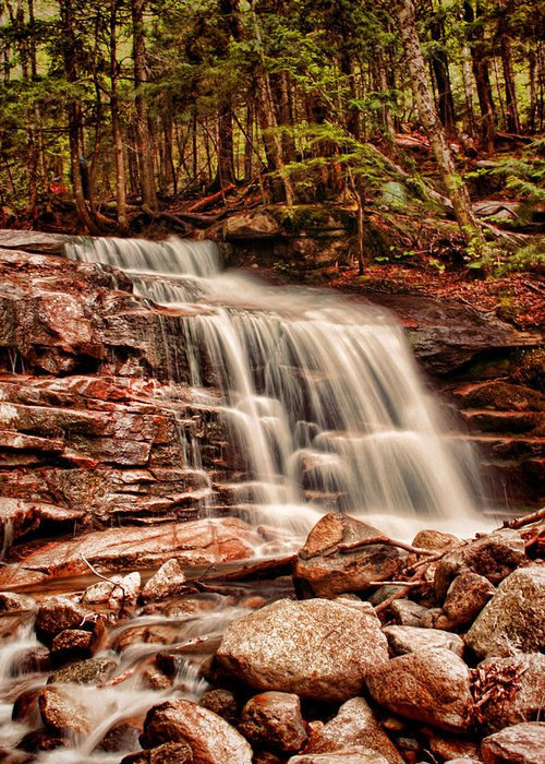 Stairs Greeting Card featuring the photograph Stairs Falls by Heather Applegate