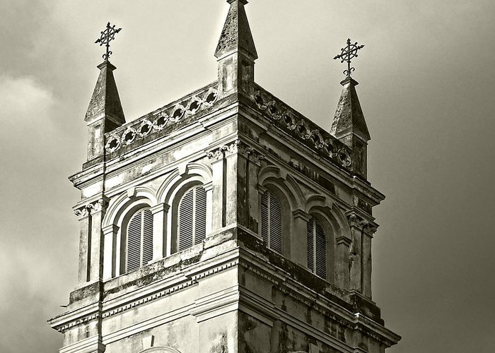 Church Greeting Card featuring the photograph Standing High by Somnath Chakraborty