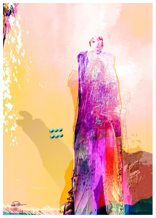 Figurative Greeting Card featuring the digital art Standing Watch 4 by James VerDoorn