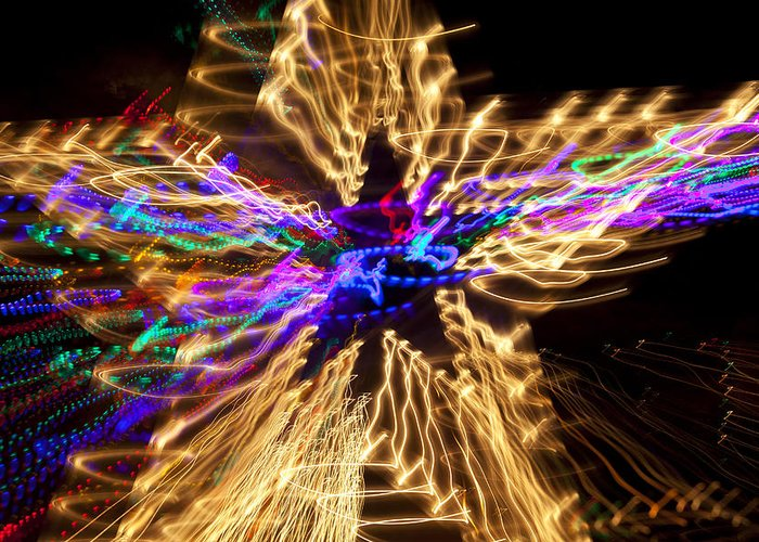 Star Abstract Greeting Card featuring the photograph Star Abstract by Garry Gay