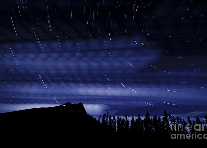 Kootenay Greeting Card featuring the photograph Star Trails by Ginevre Smith