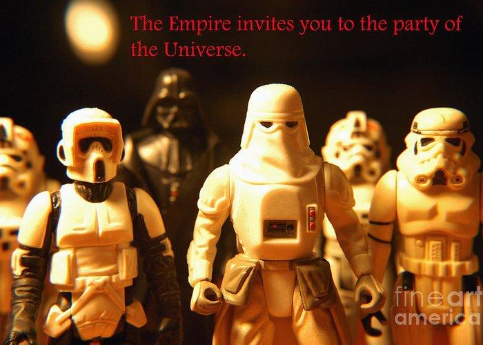 Star Wars Greeting Card featuring the photograph Star Wars Gang 2 by Micah May