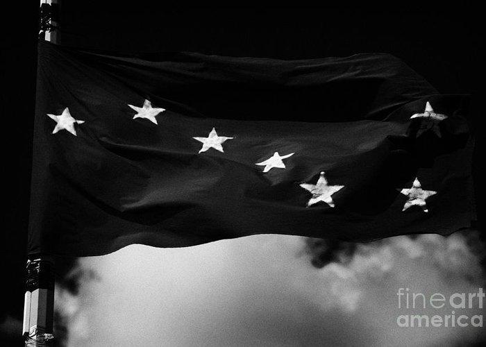 Irish Greeting Card featuring the photograph Starry Plough Flag Irish National Liberation Army Inla Ireland by Joe Fox
