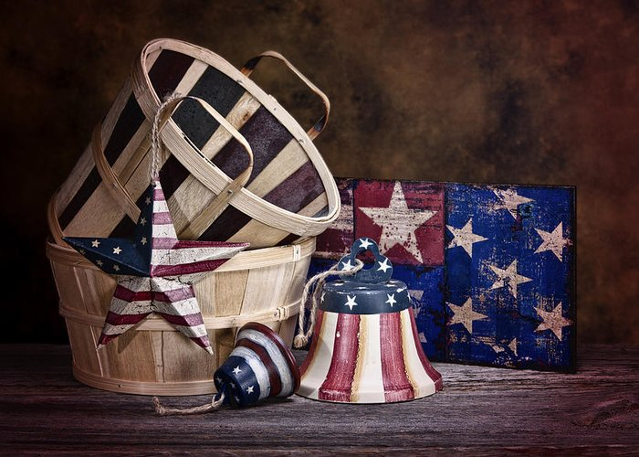 Stars And Stripes Greeting Card featuring the photograph Stars And Stripes Still Life by Tom Mc Nemar