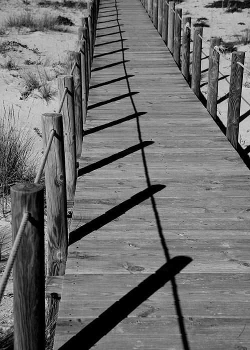Jezcself Greeting Card featuring the photograph Station Boardwalk by Jez C Self
