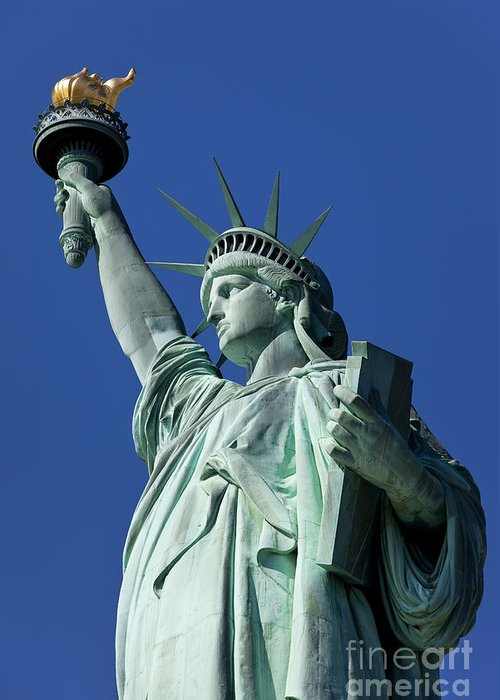 Statue Greeting Card featuring the photograph Statue Of Liberty by Brian Jannsen