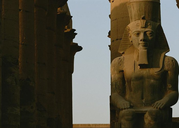 Africa Greeting Card featuring the photograph Statue Of Ramses II In The Luxor Temple by Kenneth Garrett