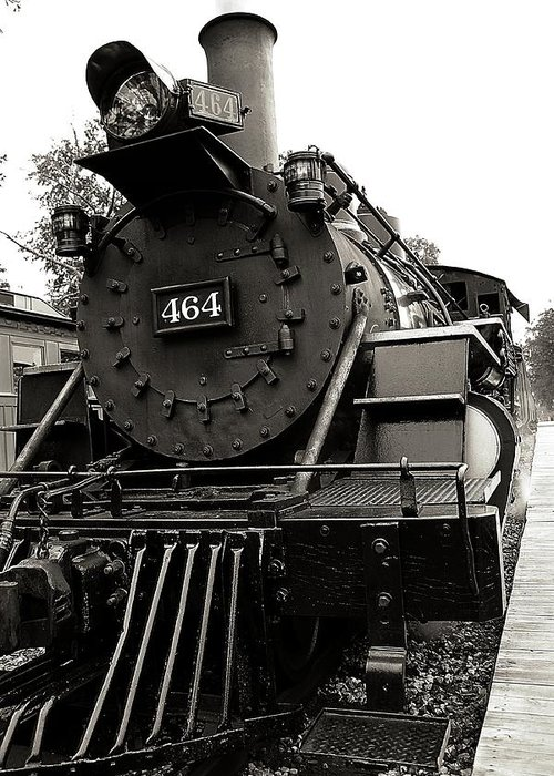Train Greeting Card featuring the photograph Steam Engine 464 by Scott Hovind